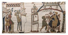 Halleys Comet Of 1066, Bayeux Tapestry Beach Towel
