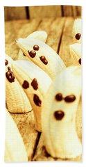 Halloween Banana Ghosts Beach Towel