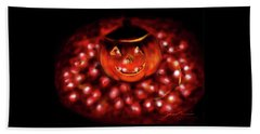 Halloween Lights Beach Towel