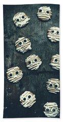 Halloween Mummy Cookies Beach Towel