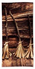 Halloween Witch Brooms Beach Towel