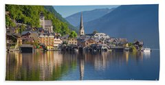 Hallstatt Reflections Beach Towel by JR Photography