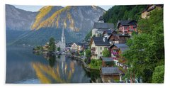 Hallstatt Sunrise Beach Towel by JR Photography