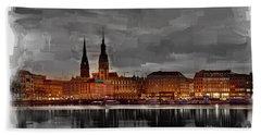 Hamburg Germany Skyline 01 Beach Towel