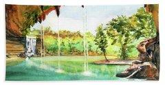 Hamilton Pool Texas Beach Towel