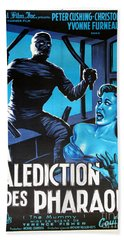 Hammer Movie Poster The Mummy La Malediction Des Pharaons Beach Sheet