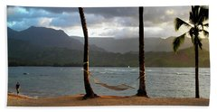 Hammock At Hanalei Bay Beach Towel
