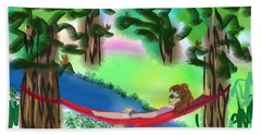 Hammock Under The Chihuahua Trees Beach Towel