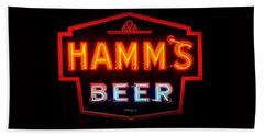 Hamm's Beer Beach Sheet by Susan  McMenamin