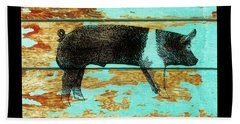 Hampshire Boar 1 Beach Towel by Larry Campbell