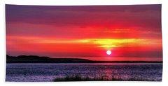 Hampton Beach Sunrise Beach Towel