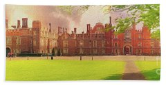 Hampton Court Palace Panorama Beach Towel