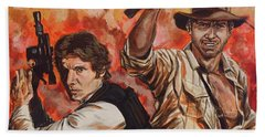Han Solo And Indiana Jones Beach Towel