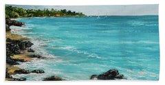 Beach Towel featuring the painting Hanakao'o Beach by Darice Machel McGuire
