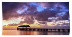 Hanalei Pier Beach Towel by James Eddy