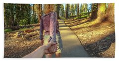 Hand In Hand Sequoia Hiking Beach Towel