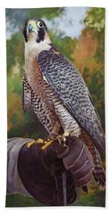 Beach Towel featuring the photograph Hand Of The Falconer by Nikolyn McDonald