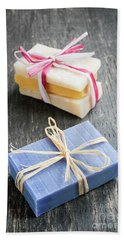 Beach Towel featuring the photograph Handmade Soaps by Elena Elisseeva