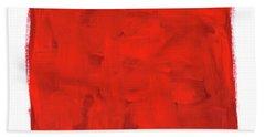 Handmade Vibrant Abstract Oil Painting Beach Towel