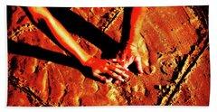 Hands In Love Beach Sheet