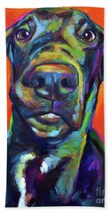 Beach Towel featuring the painting Handsome Hank by Robert Phelps