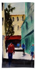 Hang Ah Alley1 Beach Sheet by Tom Simmons