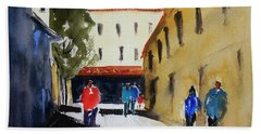 Hang Ah Alley2 Beach Sheet by Tom Simmons