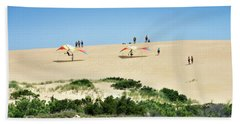 Hang Gliding On Jockey's Ridge - Nags Head Beach Towel