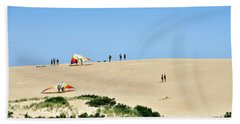 Hang Gliding On Jockey's Ridge - North Carolina Beach Towel
