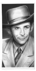 Hank Williams Beach Towel
