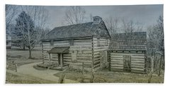 Beach Sheet featuring the digital art Hannastown Log Cabin One by Randy Steele