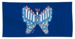 Hanukkah Butterfly Beach Sheet
