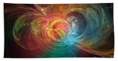 Beach Towel featuring the digital art Happiness Unlimited by Michal Dunaj