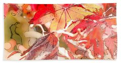 Happy Autumn Beach Towel