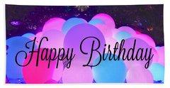 Happy Birthday Bubbles Beach Sheet
