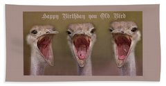 Happy Birthday Beach Sheet by Dennis Baswell