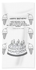 Beach Sheet featuring the drawing Happy Birthday by John Haldane