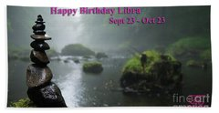 Happy Birthday Libra Beach Towel