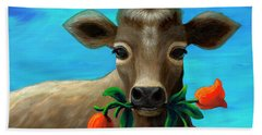 Happy Cow Beach Towel