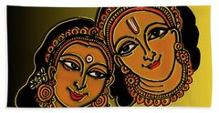 Beach Towel featuring the digital art Happy Diwali by Latha Gokuldas Panicker