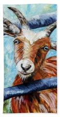 Happy Goat Beach Towel