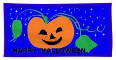 Happy Halloween 1 Beach Sheet by Linda Velasquez