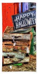 Happy Halloween Beach Sheet