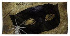 Happy Halloween Beach Sheet by Patrice Zinck