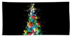 Happy Holidays - Abstract Tree - Horizontal Beach Sheet