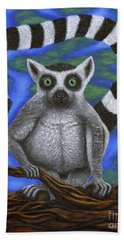 Happy Lemur Beach Sheet
