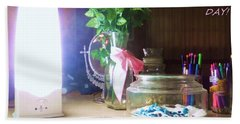 Beach Towel featuring the photograph Happy Mothers Day by Denise Fulmer