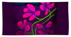 Beach Towel featuring the digital art Happy New Year by Latha Gokuldas Panicker