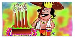 Happy Onam Beach Towel