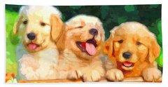 Happy Puppies Beach Sheet
